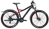 Herren Mountainbike 27,5 Zoll schwarz/rot - Bulls Fahrrad Sharptail Street 3 - Shimano Kettenschaltung, StVZO Beleuchtung