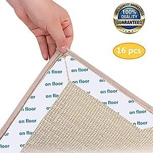 Eyscoco Teppich Anti Rutsch Unterlage,16 Stück Antirutschmatte Für Teppich,Teppichgreifer rutschfeste Teppichunterlage…