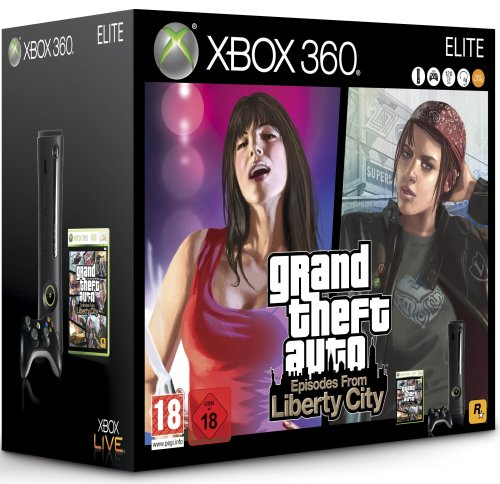 Spielkonsole Xbox 360 Elite + GTA Episodes From Liberty City