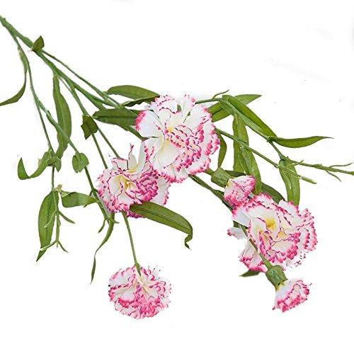 Blumen Bouquet Sträuße Blume Home Dekoration Blumen Nelke Dekoration Hochzeit Dekorative Blumen (Rose Weiß-70cm) (Spiegel Für Mittelstücke)