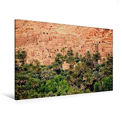CALVENDO Orte: Premium Textil-Leinwand 120 cm x 80 cm quer, Dattelpalmen bei Tinerhir, Marokko | Wandbild, Bild auf Keilrahmen, Fertigbild auf echter Leinwand, Leinwanddruck