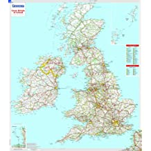 Great Britain & Ireland - Michelin rolled & tubed wall map Encapsulated (Michelin Wall Maps)