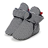 Morbuy Baby Baumwolle Schuhe 0-18 Monate Babyschuhe Neugeborene Mädchen Kleinkind Weiche Alleinige Anti-Rutsch Krabbelschuhe Wanderer Schuhe (12cm / 6-12 Monate, Streifen)