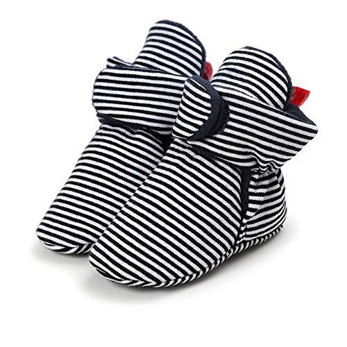 (Morbuy Baby Baumwolle Schuhe 0-18 Monate Babyschuhe Neugeborene Mädchen Kleinkind Weiche Alleinige Anti-Rutsch Krabbelschuhe Wanderer Schuhe (13cm / 12-18 Monate, Streifen))