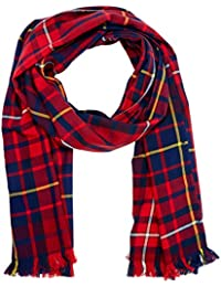 Hilfiger Denim Flannel Check Scarf, Echarpe Homme, Multicolore (Red&Blue Check 902), Taille Unique