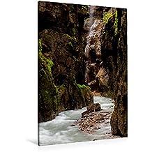 Calvendo Premium Textil-Leinwand 80 cm x 120 cm hoch, Ein Motiv aus Dem Kalender Impressionen aus der Partnachklamm | Wandbild, Bild auf Keilrahmen. Leinwand, Leinwanddruck Natur Natur