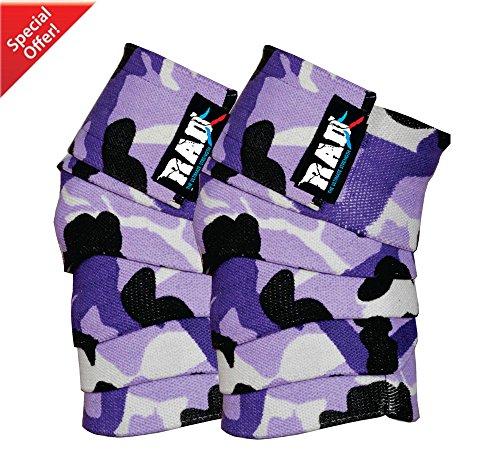 Rad 1Paar Heavy Duty Kniebandagen für powerliftering/Bodybuilding, Fitnessstudio New (weiß camo) (weiß camo)