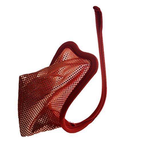 TOOGOO(R) Damen und Herren Super Sexy Pailletten verziert C-String Invisible Tanga Underwear Rot bei Goldene Pailletten -