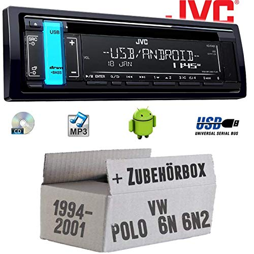 Autoradio Radio JVC KD-R491 | CD | MP3 | USB | Android | - Einbauzubehör - Einbauset für VW Polo 6N + 6N2 - JUST SOUND best choice for caraudio