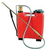 Dal Degan 603968 Pompa Irroratrice PVC, 16 litri, pompa acciaio, rosso
