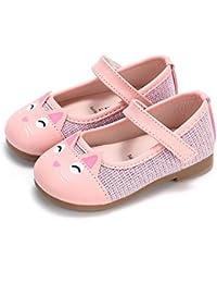 Beladla Bebé pequeño Niña Moda Niños Bowknot Patrón de Gato Zapatilla Botas Zapatos Casuales Zapatos de
