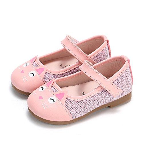 Jaysis Blume Leder einzelne Schuhe weiche Sohle Prinzessin Schuhe Mädchen Prinzessin Kostüm Ballerina Festliche Mädchenschuhe Taufschuhe Schuhe (Pair Mädchen Kostüm Für Jungen)