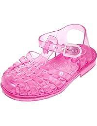 Sandalias de baño rosa brillo Méduse