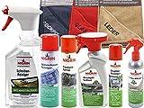 Nigrin Autopflege-Set mit Aktivschaum-Reiniger, Scheiben-Reiniger & Nikotionlöser, Cockpit-Spray/-Lotion/-pflege, Display-Reiniger, Leder-Pflege, Microfaser-Tücher