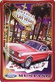 Ford Mustang Las Vegas targa placca metallo curvo Nuovo 20x30cm VS1993A