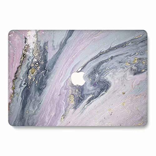 AQYLQ MacBook Schutzhülle/Hard Case Cover Laptop Hülle [Für MacBook Air 13 Zoll: A1369/A1466], Ultradünne Matt Plastik Hartschale Schutzhülle, DL68 lila Marmor Lila Hard Case Cover