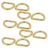 sourcing map 10 Stück 20mm innere Breite Gold Gürtel D Ringe Halbringe Halbrundringe DE de