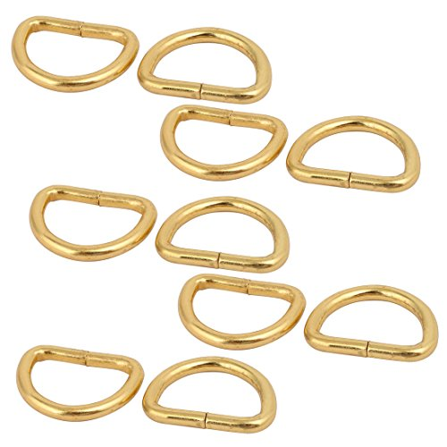sourcing map D Ringe 10 Stück 20mm innere Breite Gold GürtelHalbringe Halbrundringe