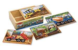 Melissa & Doug 13792 Construction Puzzles in a Box