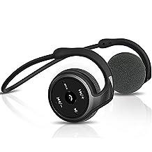 Auriculares Bluetooth 4,1 deportivos, 3-en 1 Cascos Bluetooth, Cascos inalámbricos con micrófono, soporte tarjeta TF jugar(hasta 32 G) y Radio FM, de voz inteligente consideraciones y multipunto para iPhone, Samsung, Blackberry, HTC y otras instalaciones Bluetooth