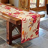 Bilberry Furnishing By Preeti Grover Cotton Mehroon Floral Print Table Runner (14x72 inch) Amazon Rs. 499.00