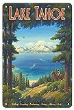 JIA KOAH Lake Tahoe,California Sierra Nevada Mountains Riding Targa retrò Bar Caffetteria Negozio Vintage Metallo Poster Decorazione Souvenir Fender Targhe