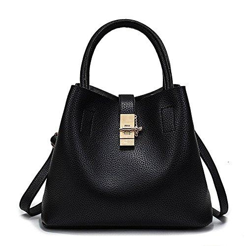 FavoMode, Borsa a mano donna rosa Pink Handbag taglia unica Black Handbag