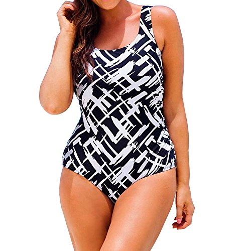 ORANSSI Women Digital Print One Pieces Monokinis Swimwear Swimsuit Plus Size Bikinis
