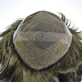 Stock Dark Brown 3# Toupee for Men Mens Human Hair Piece System Lace Front