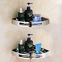 Mmhy foro bagno mensola in vetro Angolo rack-free WC in