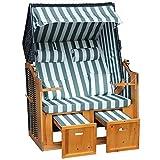 Jalano Zweisitzer Strandkorb mit klappbarer Rückenlehne für 2 Personen 118 x...