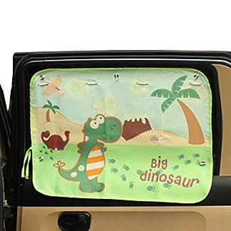 Cortina de la cortina de la cortina del coche Cortina de la ventana lateral de los cabritos con la taza de la succión,f