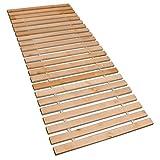 Betten-ABC Premium Rollrost, Stabiles Erlenholz, mit 23 Leisten und Befestigungsschrauben Größe 100x200