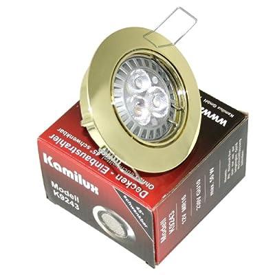 5er Set Led Einbaustrahler Merry Farbe Gold Gu10 3er Power Led 5w Warmwei 230v
