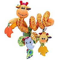 Hanging Stroller Toys for Car Seat Baby Stroller Plush Toys Giraffe Decoration Toy for Infants Toddlers