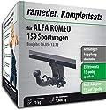 Rameder Komplettsatz, Anhängerkupplung abnehmbar + 13pol Elektrik für ALFA Romeo 159 Sportwagon (112672-05543-1)