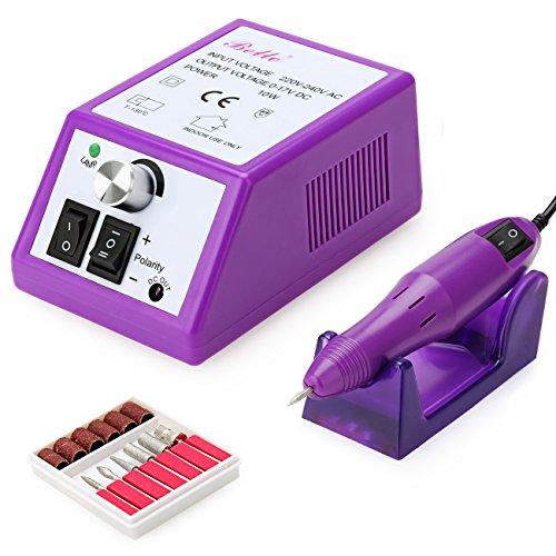 Belle Pourpre Kit Ponceuse Électrique de l'ongle Drill Manucure Pédicure Fichier Set - 220V Machine Lime Rotative Ongles