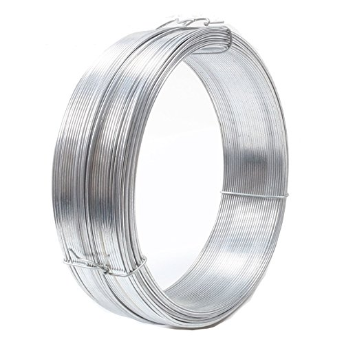 80m Long Galvanised Metal Garden Wire - 1mm Thick Strong Fence/Plant Support Tie