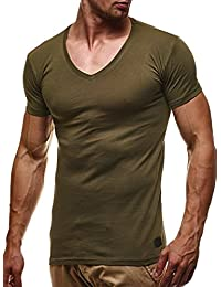 LEIF NELSON Uomo Basic T-Shirt Scollo a V felpa con cappuccio felpa con cappuccio ln6372