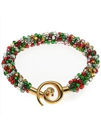 Bracelet de Perles Kumihimo (Tons de Noël) - Kit Bijoux Beadaholique Exclusif