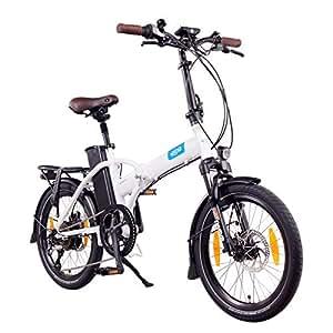 NCM London (+) 20 Zoll E-Bike, E-Faltrad, 36V 15Ah / 19Ah 540Wh / 684Wh Akku, 250W Das-Kit Heckmotor, Scheibenbremsen (Weiß+)