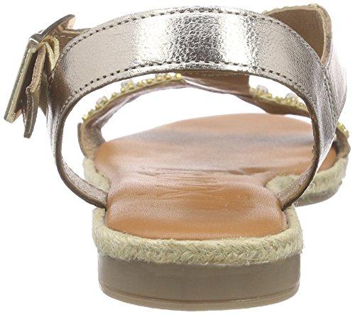 XYXYX Damen Sandale Knöchelriemchen Gold (Gold)
