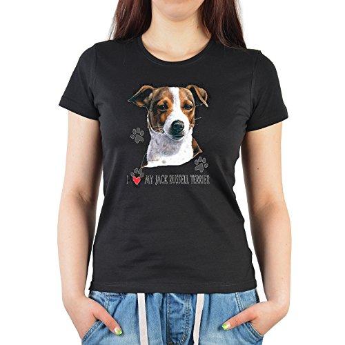 Damen, Girlie T-Shirt perfekt für Hundefreunde - My Jack Russel Terrier (Jack-russel-terrier-rock)