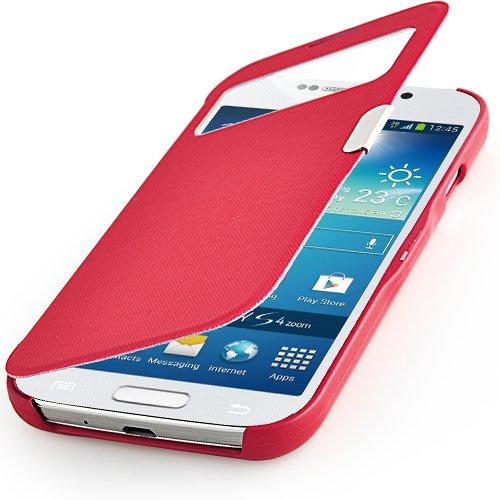 Samsung Flip Cover Rot S4 (betterfon S-View Flipcover Samsung Galaxy S4 mini I9195 Rot Schutzhülle Case Cover Handytasche Flip Cover Hülle Tasche + gratis Displayschutzfolie)