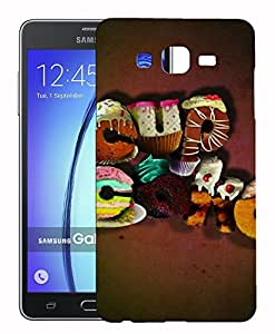 Toppings 3D Printed Designer Hard Back Cover For Samsung Galaxy On7 Design-10352