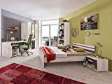 Jugendzimmer Cariba Komplett verschiedene Ausführungen Kinderzimmer Möbel (Jugendzimmer Cariba 7tlg., Weißeiche)
