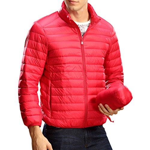 Highdas Nouvelle Ultra L¨¦ger Hommes 90% Canard Blanc Down Jacket Winter Sport Outdoor Duvet Canard Doudoune Parkas Manteaux Rouge