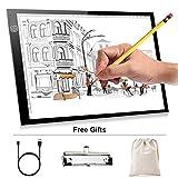 A4 Mesa de luz para dibujar LED Lightbox de dibujo con Micro USB Power Box Tablero de Trazado...