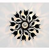 WandLeuchte WandLeuchten Wandlampe Modern Acryl Blumen Zweige Metall Innen LED Projektion Schatten Weiß Schwarz Schlafzimmer Wohnzimmer Treppen Korridor Cafe , black , 30cm