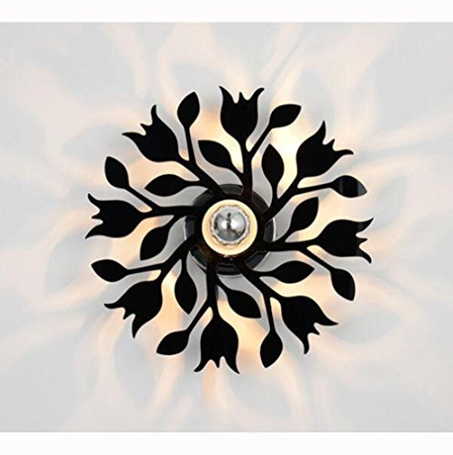 Acryl Schatten-tischleuchte (WandLeuchte WandLeuchten Wandlampe Modern Acryl Blumen Zweige Metall Innen LED Projektion Schatten Weiß Schwarz Schlafzimmer Wohnzimmer Treppen Korridor Cafe , black , 30cm)